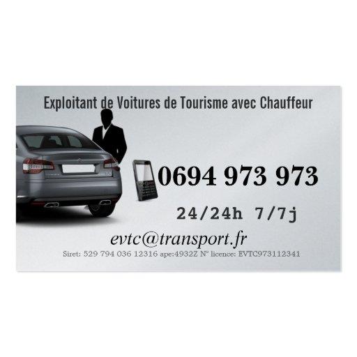 Empresário de Automóveis de Turismo com Motorista Cartoes De Visita