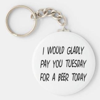 Empréstimo da cerveja chaveiros