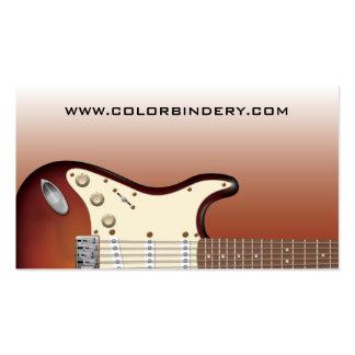 Empurrador da guitarra - cartão de visita elétrico