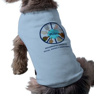 EMPURRE a camiseta de cão