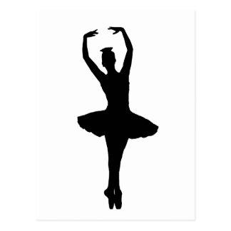 EN POINTE do PIROUETTE da BAILARINA (dançarino de Cartão Postal