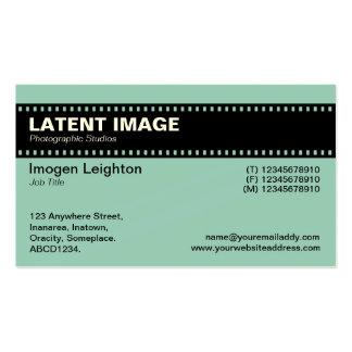 Encabeçamento da tira do filme - Lt verde azul cr Modelos Cartoes De Visitas