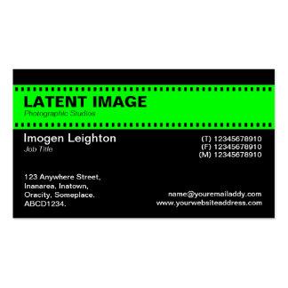 Encabeçamento da tira do filme - verde com preto cartões de visita