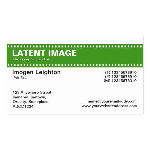 Encabeçamento da tira do filme - verde e branco do modelo de cartões de visita