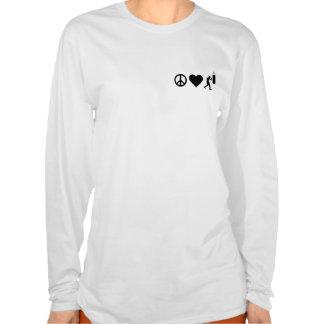 Encaixotamento do amor da paz t-shirt