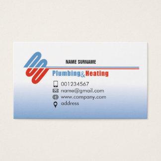 Encanamento e aquecimento. Cartão de visita para o