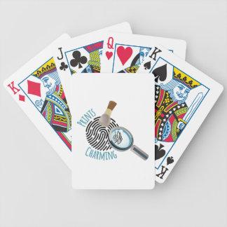 Encantamento dos impressões baralhos de poker