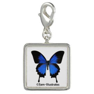 Encanto azul do bracelete do encanto da borboleta