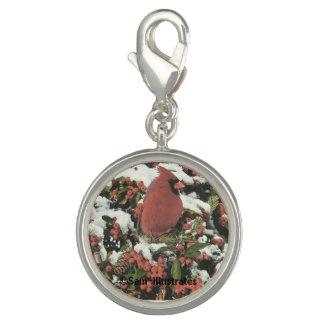 Encanto cardinal do bracelete do encanto do