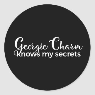 """Encanto da etiqueta 1/2 redondo clássico"""" Georgie"""