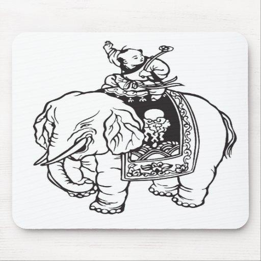 Encanto de boa sorte do elefante da equitação do b mousepad