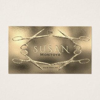 Encanto do brilho das tesouras do Hairstylist Cartão De Visitas