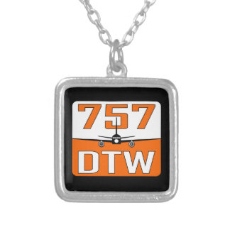 Encanto e colar da prata esterlina de 757 DTW