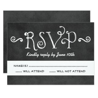 Encanto preto do quadro do cartão | do casamento