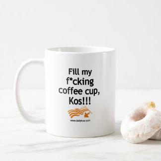 Encha meu copo, Kos! caneca de café