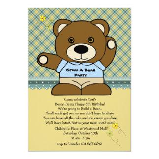 Encha um partido do urso convites personalizados