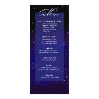 Enchanted nivelando o menu do casamento do convite 10.16 x 23.49cm