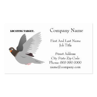 Encontrando desenhos animados cinzentos do pombo d cartao de visita