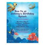 Encontrando o convite do aniversário de Nemo