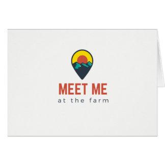 Encontre-me cartão