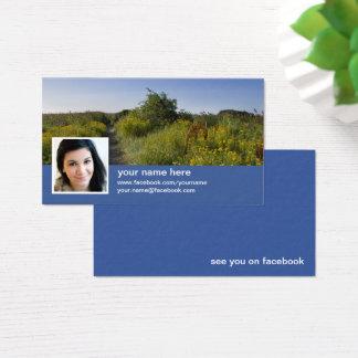 Encontre-me no cartão de visita do facebook CC0417