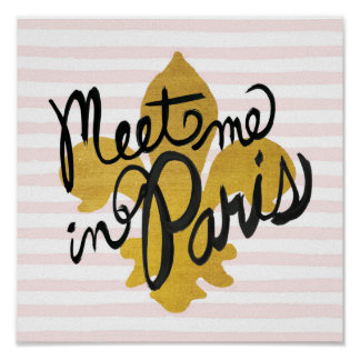 Encontre-me no preto e no ouro de Paris Pôster