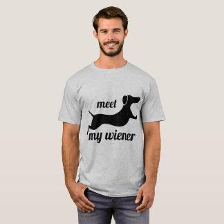 Encontre meu wiener - camiseta de cão punny
