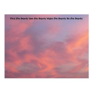 Encontre o cartão do rosa da beleza