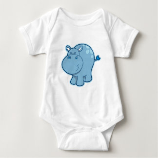 Encontre o hipopótamo azul! camiseta