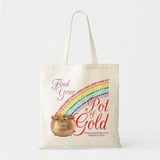 Encontre seu pote da sacola do ouro bolsa tote