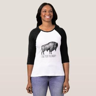 Encontre seu T do búfalo do norte verdadeiro Camiseta