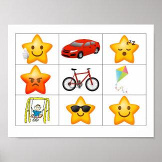 Encontre um poster da recompensa da estrela (a