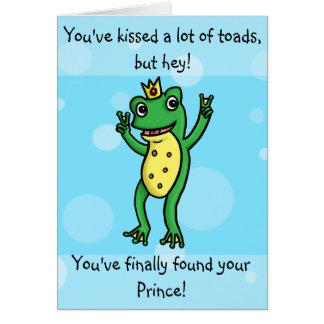 Encontrou seu príncipe - cartão do noivado do