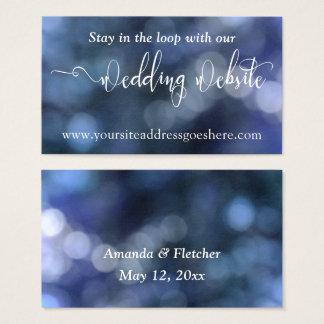 Endereço de Web site Wedding da luz 32 azuis de Cartão De Visitas