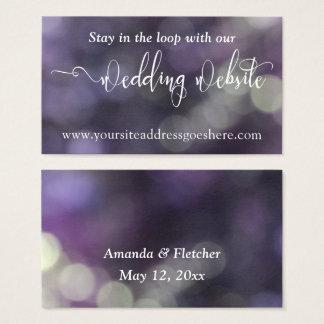 Endereço de Web site Wedding da luz 32 azuis roxos Cartão De Visitas