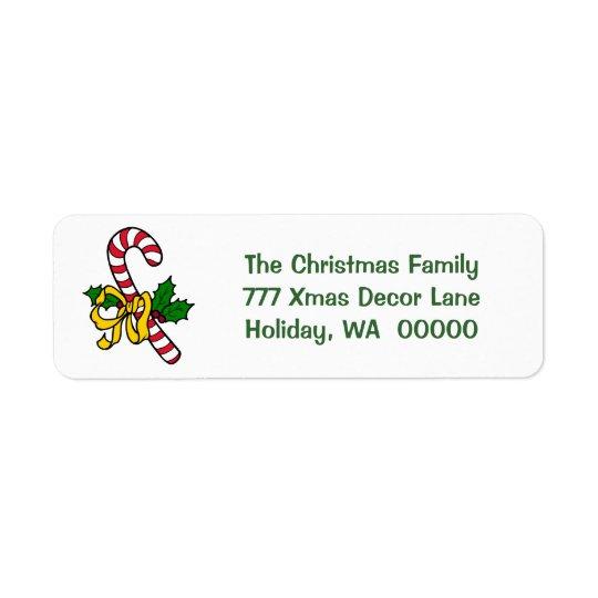 Endereço do Natal do Xmas do feriado da fita do Etiqueta Endereço De Retorno