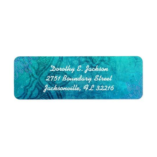 Endereço do remetente azul do feriado dos flocos etiqueta endereço de retorno