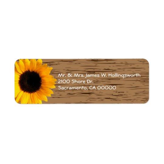 Endereço do remetente de madeira do costume da grã etiqueta endereço de retorno