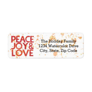 Endereço do remetente do feriado do Natal da paz Etiqueta Endereço De Retorno