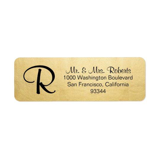 Endereço do remetente elegante da letra do etiqueta endereço de retorno