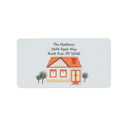 Endereço domiciliário novo do telhado de azulejo etiqueta de endereço