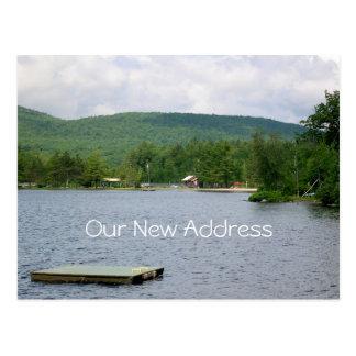 Endereço novo da opinião do lago cartão postal