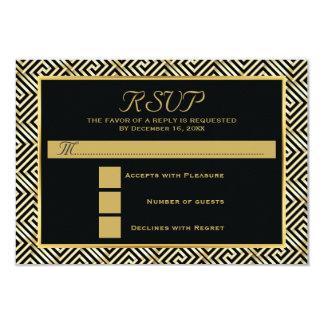 Enegreça, a resposta wedding chave grega do ouro convite 8.89 x 12.7cm