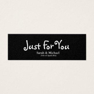 """Enegreça """"apenas para você"""" o Tag do presente do Cartão De Visitas Mini"""