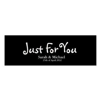 """Enegreça """"apenas para você"""" o Tag do presente do f Modelo Cartoes De Visitas"""