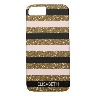 Enegreça, core & o brilho do ouro listra, capa iPhone 7