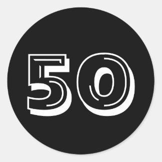 Enegreça o 50th aniversário - 50 anos de etiquetas