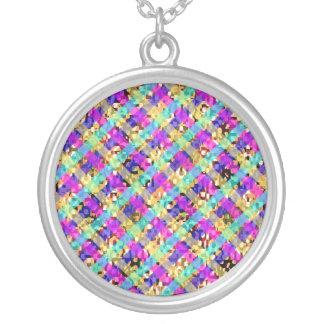 Energia azul do diamante colar personalizado