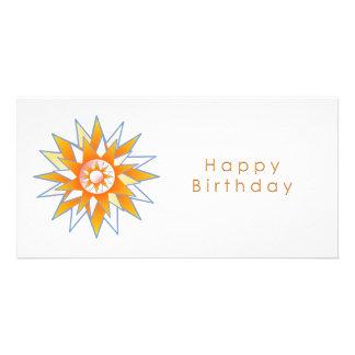 Energia Chakra de Sun do feliz aniversario Cartão Com Foto