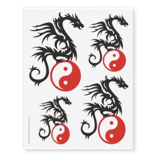 Energia do dragão de Yin & de Yang + seu backgr. &